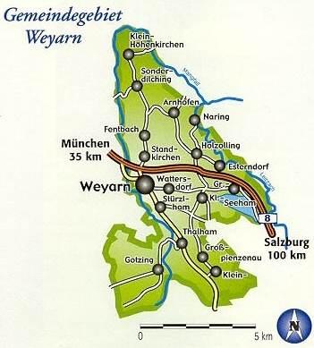 Gemeindegebiet Weyarn