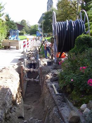 Kanalisation in Esterndorf