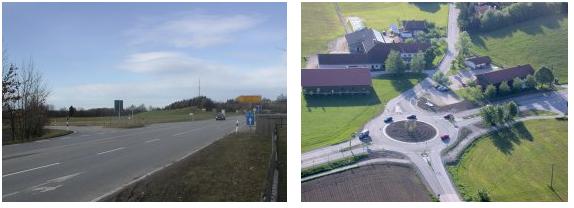 Weyarner Kreisverkehr am Ortseingang