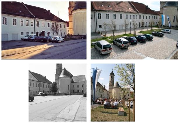 Weyarner nördlicher Rathausplatz vorher - nachher