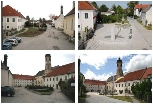 Weyarner südlicher Rathausplatz, vorher - nachher